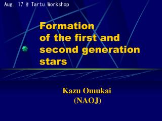 Formation  of the first and second generation stars