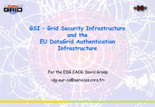 GSI – Grid Security Infrastructure and the  EU DataGrid Authentication Infrastructure