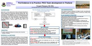 To explore research findings and evaluate need of practice change in Thailand.