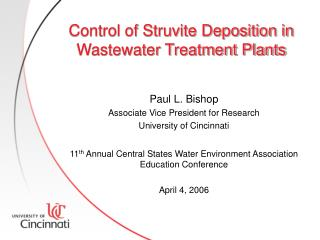 Control of Struvite Deposition in Wastewater Treatment Plants
