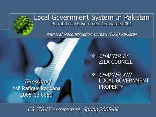 Local Government System In Pakistan Punjab Local Government Ordinance 2001   National Reconstruction Bureau NRB Pakistan