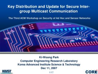 Key Distribution and Update for Secure Inter-group Multicast Communication