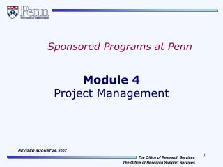 Module 4 Project Management