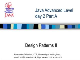Java Advanced Level  day 2 Part A