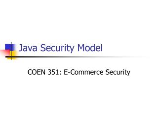Java Security Model
