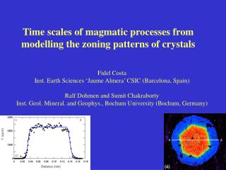 Time scales of magmatic processes from modelling the zoning patterns of crystals