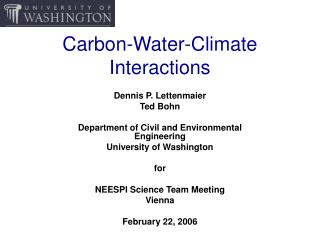 Carbon-Water-Climate Interactions