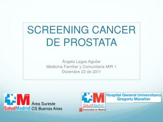 SCREENING CANCER DE PROSTATA