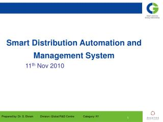 Smart Distribution Automation and Management System
