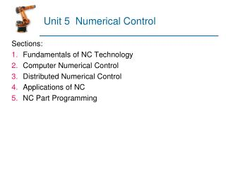 Unit 5  Numerical Control