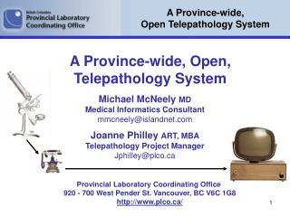 A Province-wide, Open Telepathology System