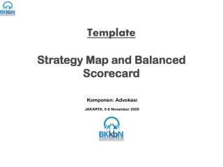 Template  Strategy Map and Balanced Scorecard