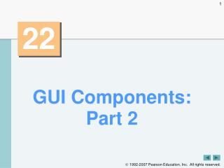GUI Components: Part 2
