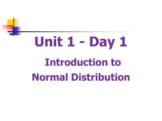 What does a population that is normally distributed look like