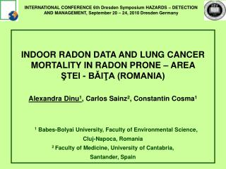 INDOOR RADON DATA AND LUNG CANCER MORTALITY IN RADON PRONE – AREA  ŞTEI - BǍIŢA (ROMANIA)