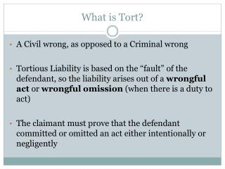 What is Tort?
