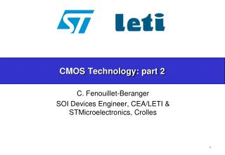 CMOS  Technology : part 2