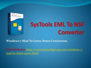 Windows 7 Mail to Lotus Notes