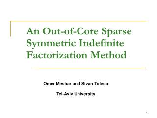 An Out-of-Core Sparse Symmetric Indefinite Factorization Method