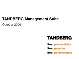 TANDBERG Management Suite
