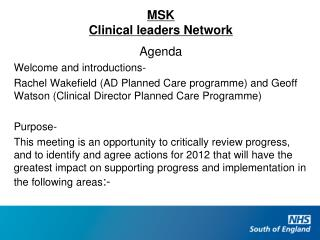 MSK Clinical leaders Network