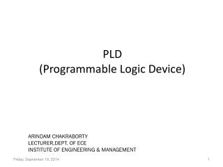PLD (Programmable Logic Device)