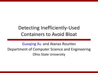 Detecting Inefficiently-Used Containers to Avoid Bloat