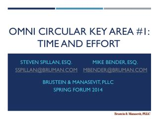 OMNI CIRCULAR KEY AREA #1:  TIME AND EFFORT