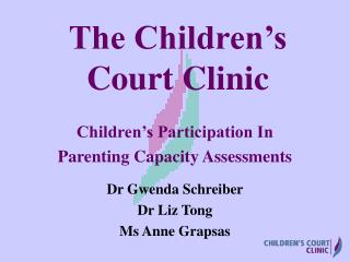 The Children's Court Clinic