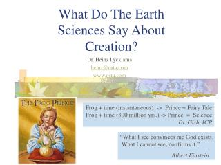 What Do The Earth Sciences Say About Creation