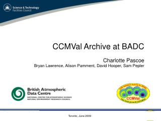 CCMVal Archive at BADC