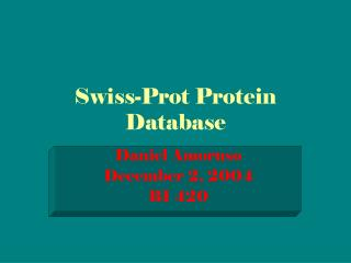 Swiss-Prot Protein Database
