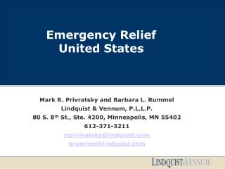 Emergency Relief United States