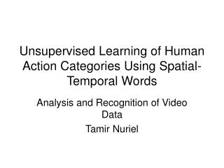 Unsupervised Learning of Human Action Categories Using Spatial-Temporal Words
