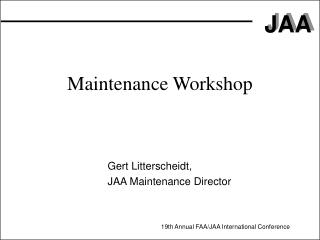 Maintenance Workshop