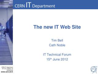 The new IT Web Site
