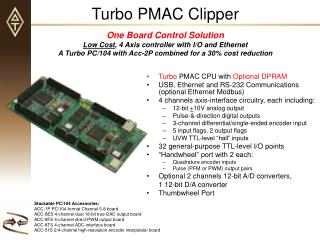 Turbo  PMAC CPU with  Optional DPRAM