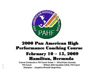 2000 Pan American High Performance Coaching Course