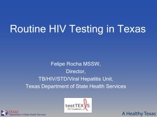 Routine HIV Testing in Texas