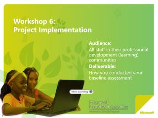 Workshop 6:  Project Implementation