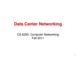 Data Center Networking