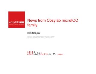 News from Cosylab microIOC family