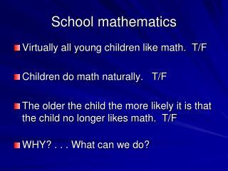 School mathematics