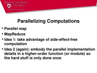 Parallelizing Computations
