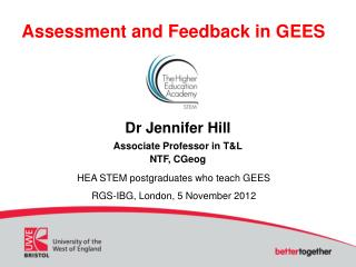 Assessment and Feedback in GEES