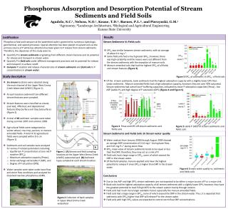 Phosphorus Adsorption and Desorption Potential of Stream Sediments and Field Soils