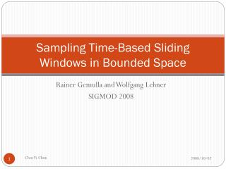Sampling Time-Based Sliding Windows in Bounded Space