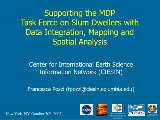 Center for International Earth Science Information Network (CIESIN)