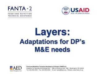 Layers: Adaptations for DP's M&E needs