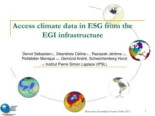 Access climate data in ESG from the EGI infrastructure